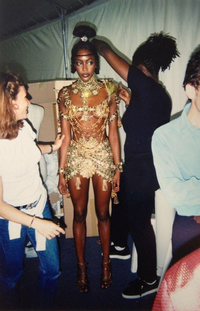 Hair Stylist Lisa Mitchell & Naomi Campbell @ Dior HC Backstage