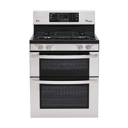 6.1 cu. ft. Capacity Gas Double Oven Range with 4 Sealed Gas Burners and EasyClean®