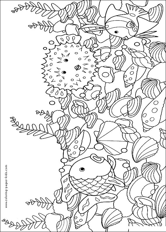 blowfish fish color page animal coloring pages color plate coloring sheet printable - Rainbow Fish Coloring Pages Print