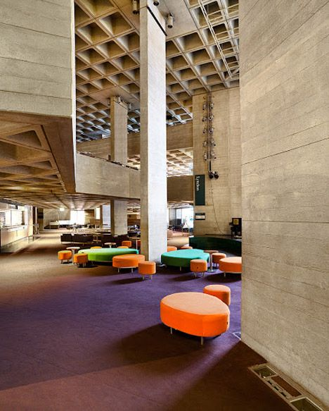 Royal National Theatre by Denys Lasdun | South Bank Lambeth, London