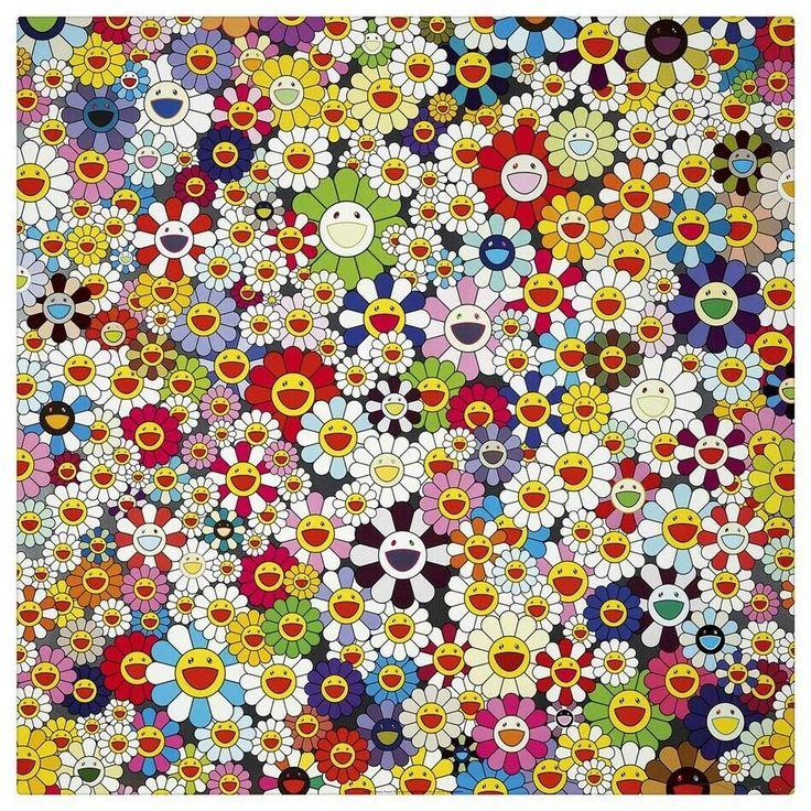 Takashi Murakami Art Canvas HD Print Home Wall Decor