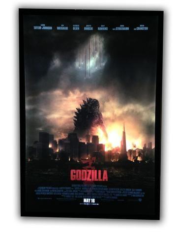 HOLIDAY SALE Until 12/31!! Black 27x40 Aluminum LED Movie Cinema Light Box Poster Frame - Standard