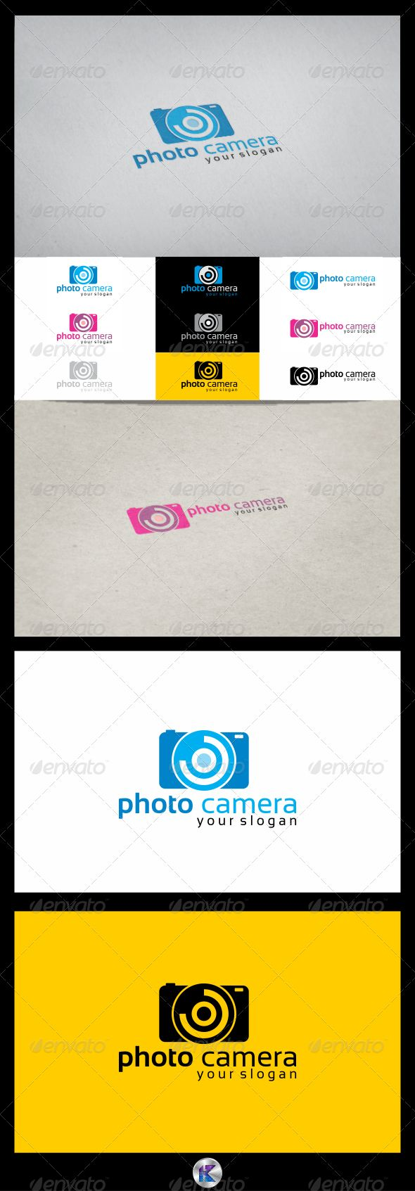 Camera Company Logo Photo camera logo template