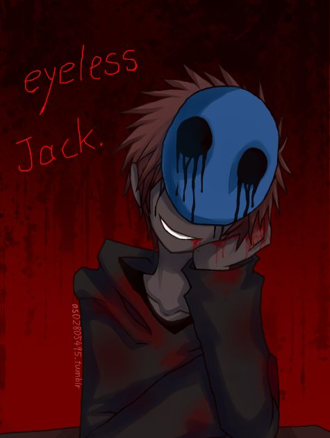 Eyeless Jack by b02805495.deviantart.com on @deviantART....is it bad that i think eyeless jack is cute