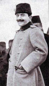 Enver Pasha: Ottoman Minister of War during the First World War and actively pro-German.  Enver Pasha engineered Turkey's entry into the War on the side of the Central Powers, Germany and Austria