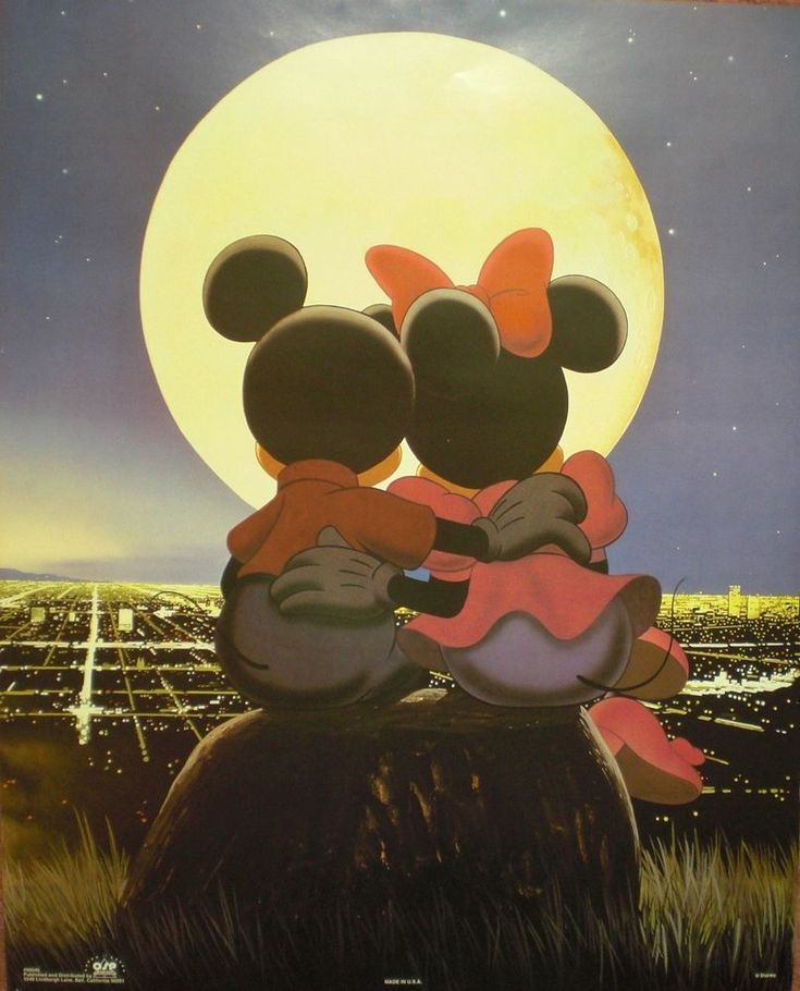 Vintage Disney Mickey Mouse and Minnie Mouse Poster Classic Unframed