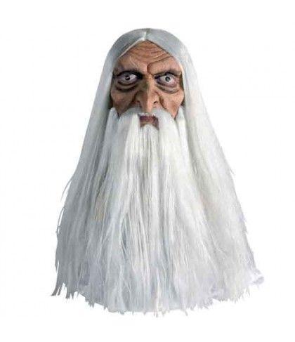 Μάσκα γέρου Μάγου Λάτεξ με Μαλλιά