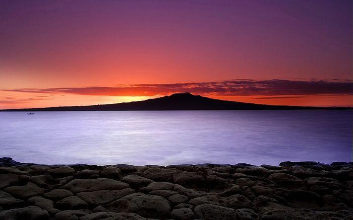 Rangitoto Island sunrise, Auckland