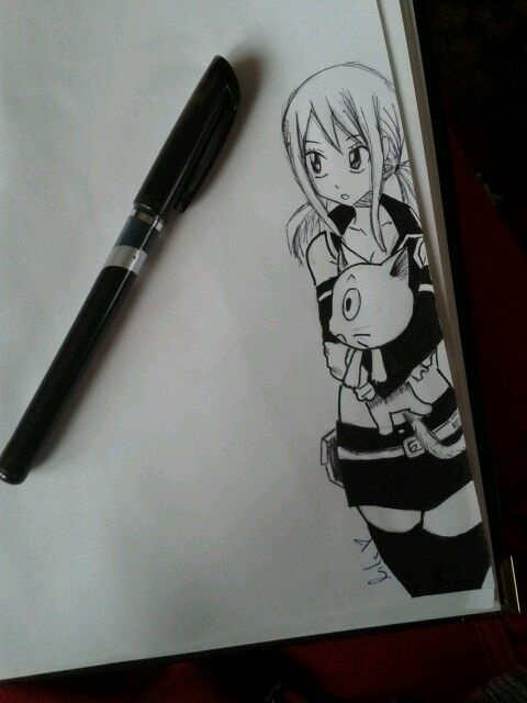 Fairy Tail Lucy-drawing <3 <3 <3