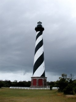 Cape Hatteras Lighthouse on the Outer Banks of North Carolina. See article: RVing North Carolina's Seashore - Cape Hatteras National Seashore Pictures