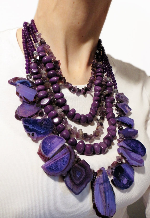 More gemstone statement necklaces? Yes please! This time, my obsession is purple amethyst! $150.00