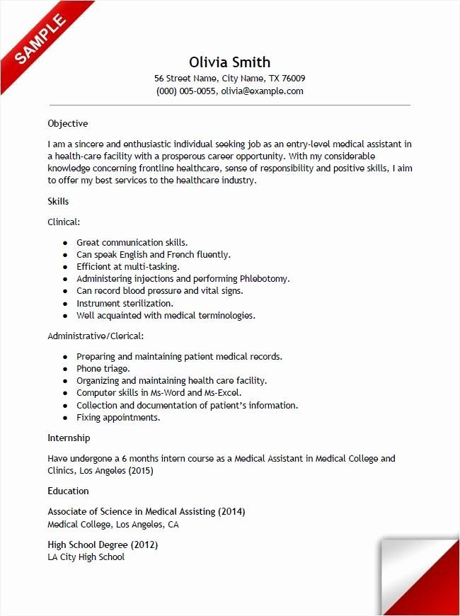 Entry Level Administrative Assistant Resume With No Experience Best Of Entry L Office Assistant Resume Medical Assistant Resume Administrative Assistant Resume
