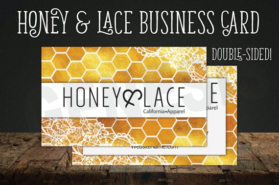 Honey & Lace Business Card! Beautiful honeycomb and gold, with lace accents!  Get the matching binder here:  Includes: >TWO images, back and front! >Standard business card size, made specially for VistaPrint! >Perfect for printing from home, too! >Space for a social media accounts, website, phone number & email!  Add the following info in the Note to Seller at checkout: 1.) Name 2.) Phone Number 3.) Email Address 4.) Social media account and/or website  *This item is a digital download which…