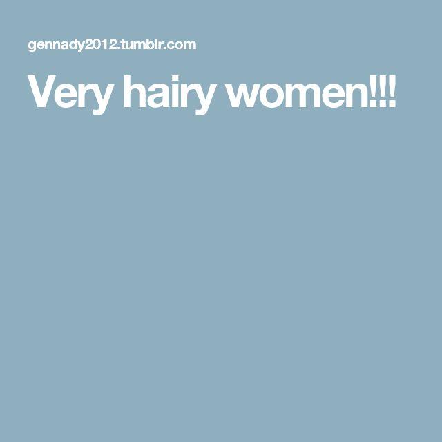 Very hairy women!!!