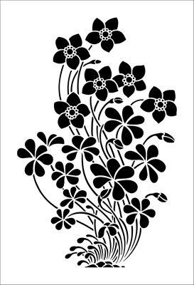 Motif No 11 stencil from The Stencil Library ARTS AND CRAFTS range. Buy stencils online. Stencil code DE119.