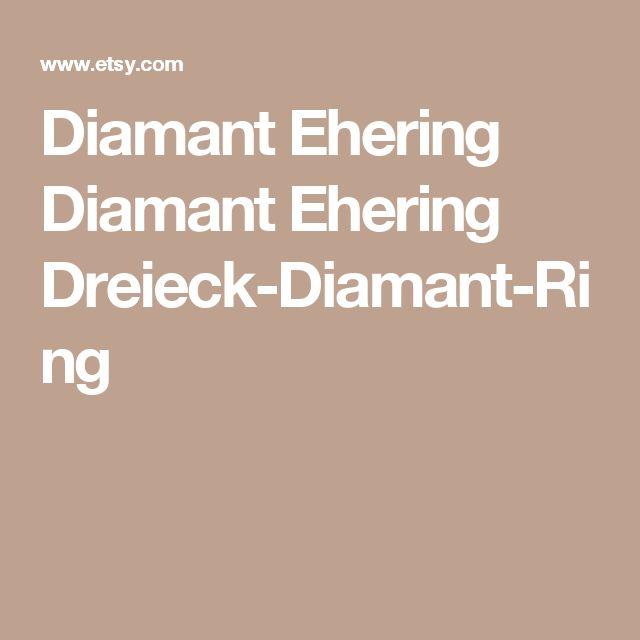 Diamant Ehering Diamant Ehering Dreieck-Diamant-Ring