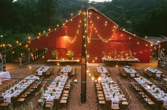 Love the Ojai Valley Inn & Spa for a pretty barn reception!