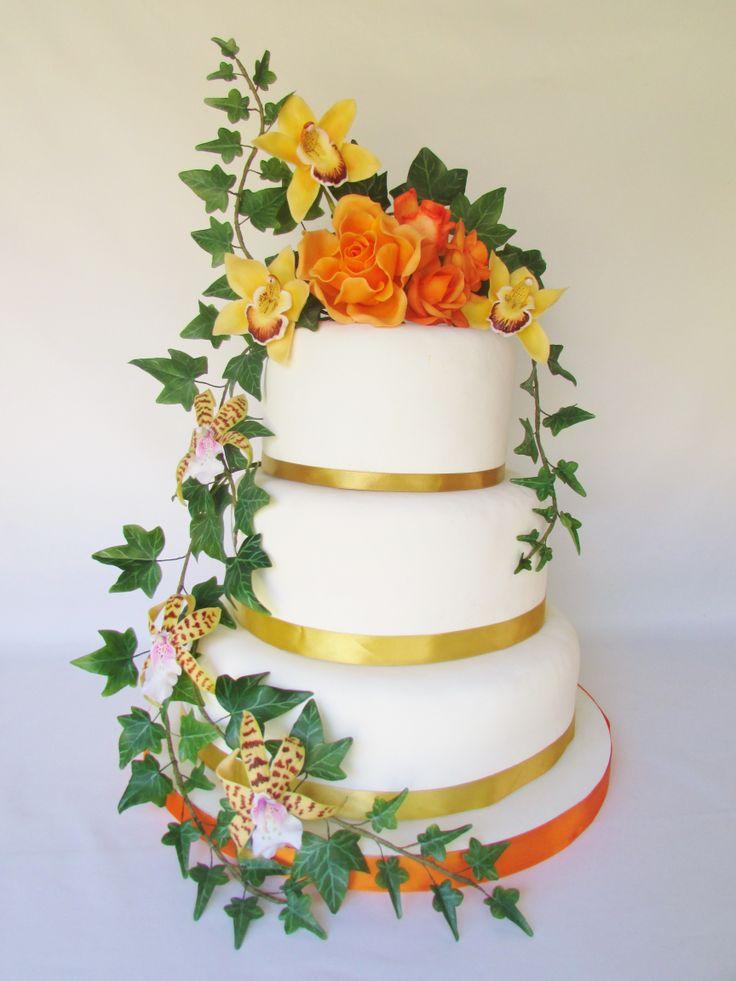 Diseño Floral para tortas, Floressalahi.cl   cold porcelain