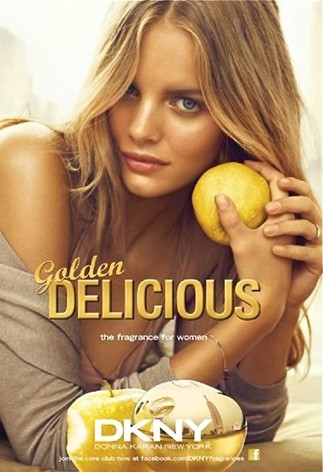 DKNY parfume ad l Golden Delicious