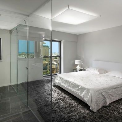 Gray Bedroom With Gray Carpet | Bedroom With Dark Grey Carpet And Light Grey  Walls.