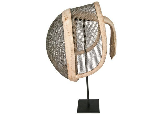 French   Fencing Mask On Stand