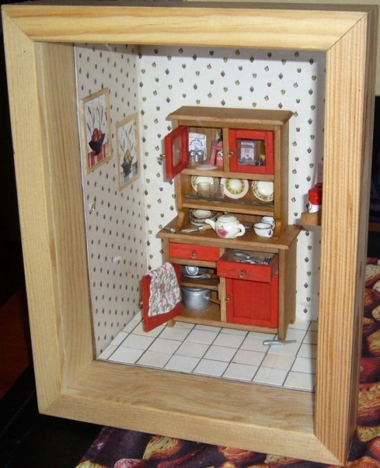 Mini Kitchen Room Box: 120 Best Miniature Room Boxes Images On Pinterest