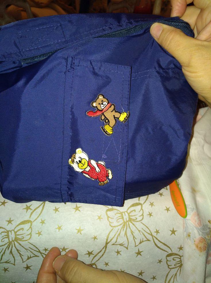 il necessaire del mio piccolo con una giacca reciclata