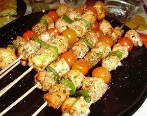 Brochetas de Pollo con Pimiento Verde y Cherry | Mini Chef, para los Martes con Verduras #NuevaDietaDukan #escaliernutritionnel