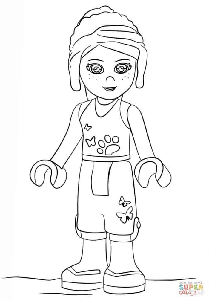 Lego Girl Coloring Pages From Lego Coloring Pages The Lego Series