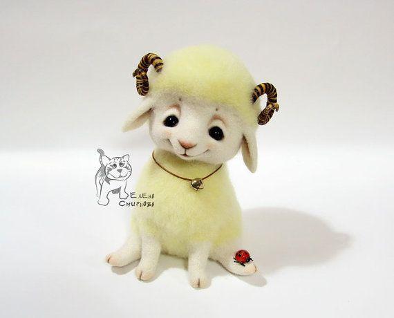 Needle felting Lamb от WoolFeltToys на Etsy
