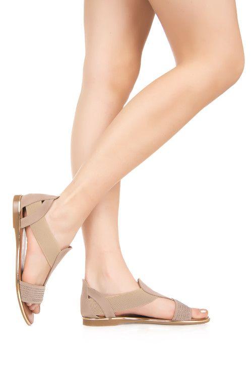Дамски ежедневни сандали с ластик