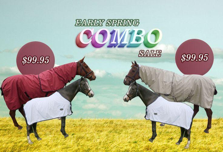 100% Waterproof No Fill Horse Rug w/ Cotton Under Rug