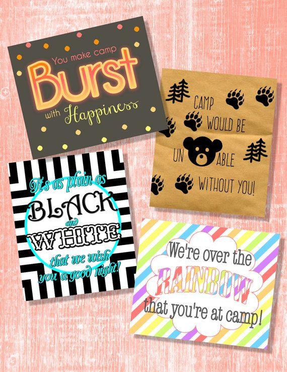 Girls Camp Pillow Treat Handout  4Pack Instant