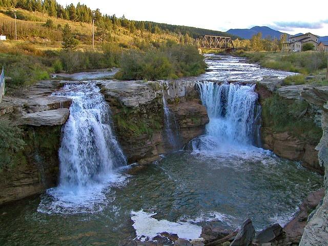 Lundbreck Falls, Crowsnest Pass, Alberta, Canada.