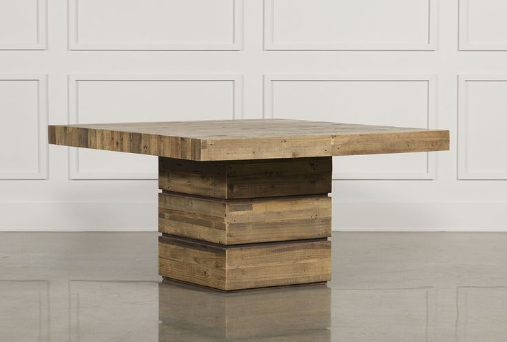 """Living Spaces - 74139 - Tahoe II 58"""" Square Dining Table - $995"""