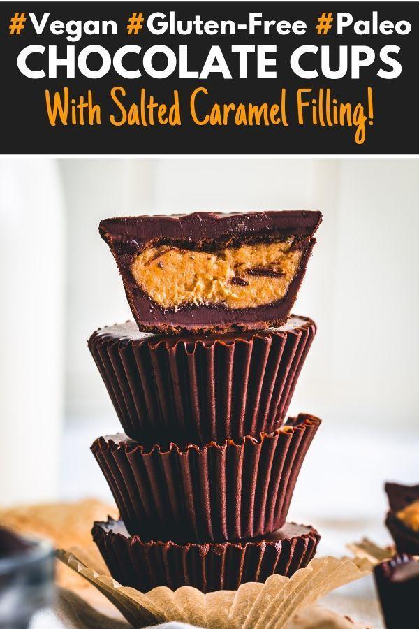 Healthy Dark Chocolate Cups With Banana Caramel Filling Recipe