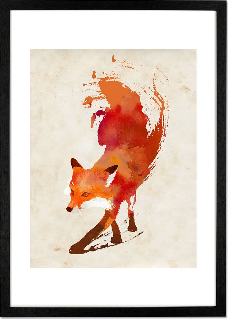 Vulpes Vulpes by Robert Farkas, 30 x 40cm Print from Made.com. Multi-Coloured. Hungary-based artist Robert Farkas creates artwork by digitally layer..