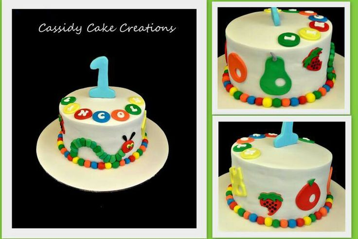 A Hungry Caterpiller cake for a 1st birthday