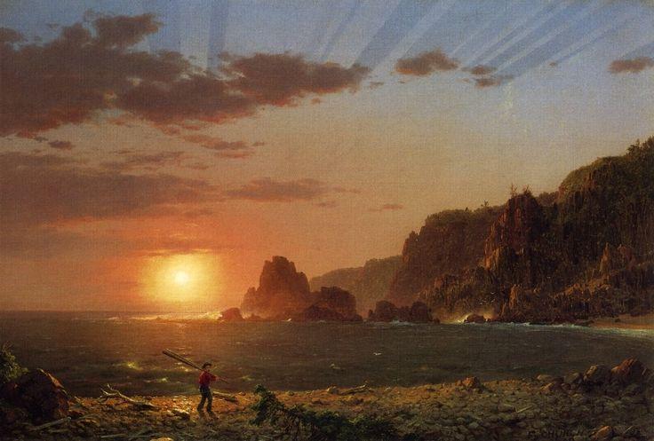 Frederic Edwin Church. Grand Manan Island, Bay of Fundy, 1852.