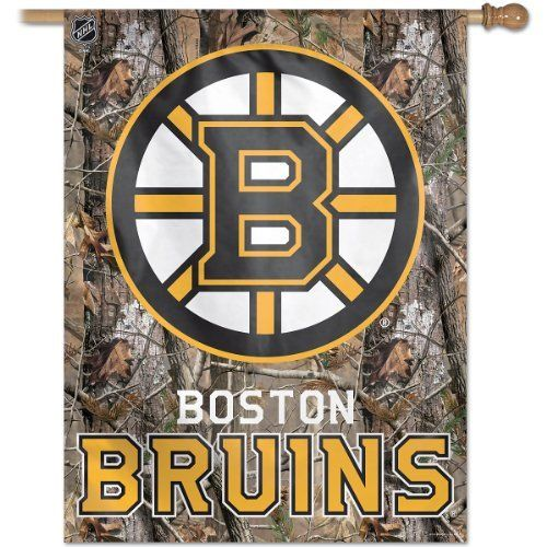 Nhl boston bruins 27 by 37 inch vertical flag real tree by for Bruins bedroom ideas
