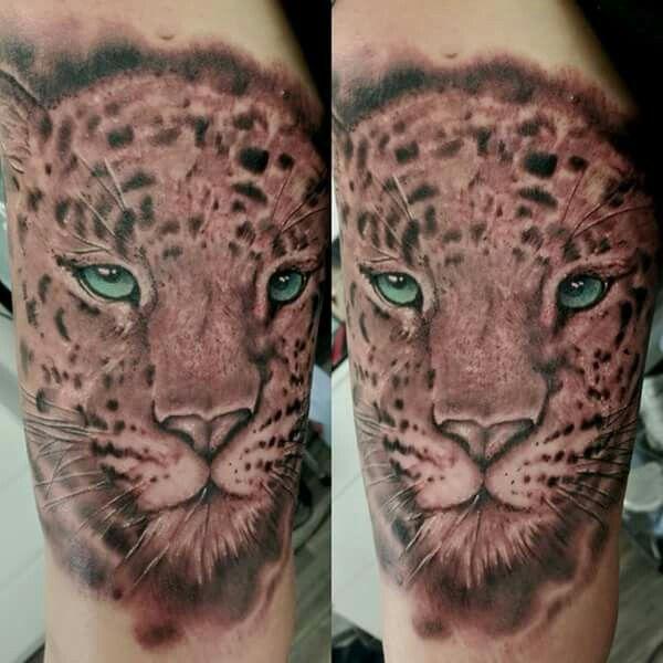 Realistic ,leopard,animal,animal tattoo,tattoo black and gray,shafing tattoo,tattoo andel chrudim, czech republic