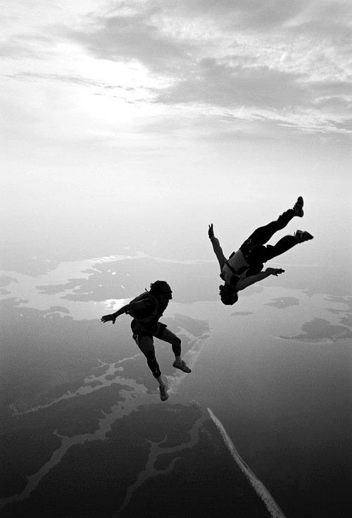 sky diving has always been something i would like to experience with someone, so much adrenaline through your body! :)