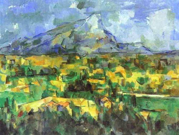 """Paul Cézanne """"Mont Sainte-Victoire"""" POST 1902 FRANCE                                                                                                                                                      Mais"""