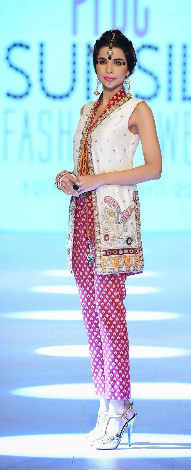 Karma Pink - PFDC Sunsilk Fashion Week 2014 - jacket and jumpsuit