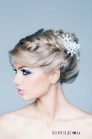Fonott menyasszonyi frizura 15, Bridal hair braids 15 www.elstile.ru