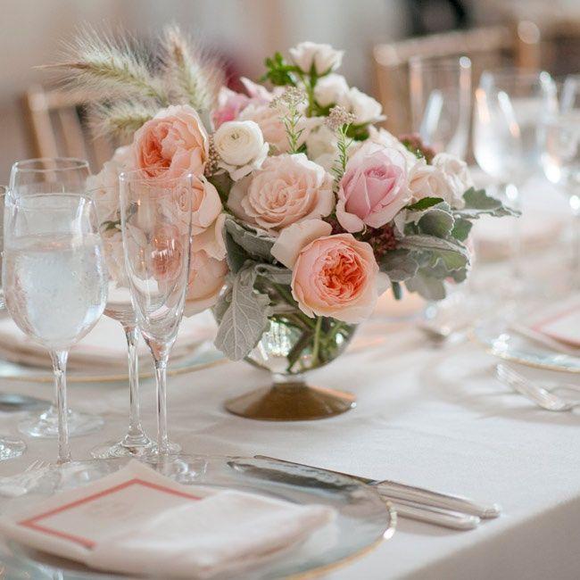 Pastel Floral centerpieces | Julie Jane Weddings | Theknot.com