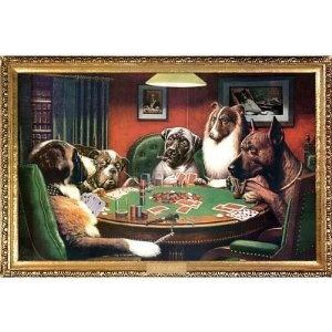 (24x36) C.M. Coolidge (Bold Bluff, Dogs Playing Poker) Art Poster Print (Kitchen) http://www.amazon.com/dp/B002SRJO64/?tag=wwwmoynulinfo-20 B002SRJO64