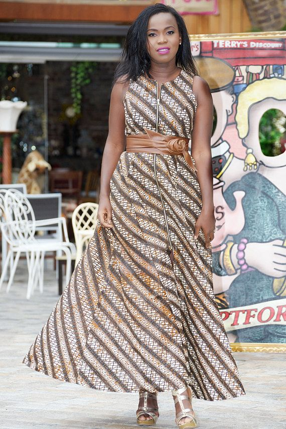 Ankara maxi dress/ african print maxi dress/ tribal maxi