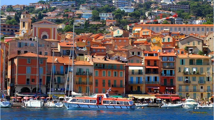 French Riviera Towns | Wallpapers French Riviera Colourful Town Cote D ...