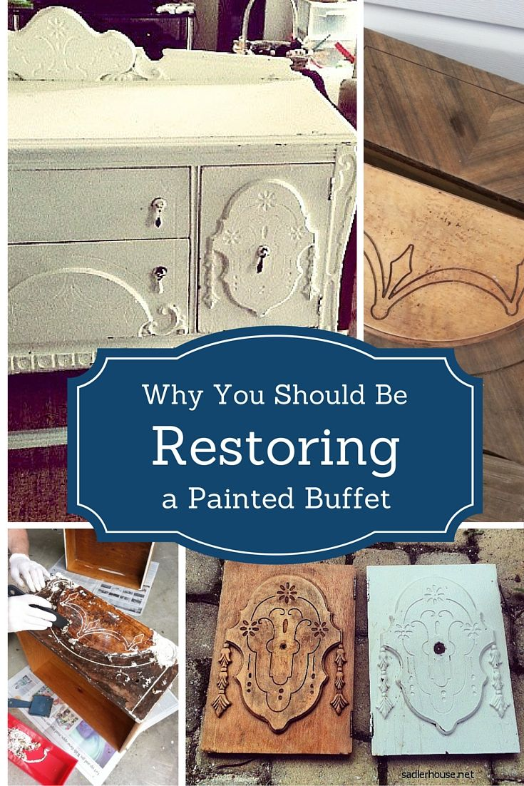 How to paint a vintage buffet home stories a to z - Refinishing A Depression Era Buffet
